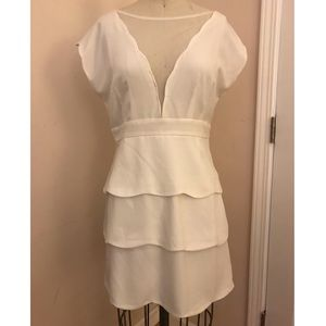 NWOT Anthropologie white layered dress
